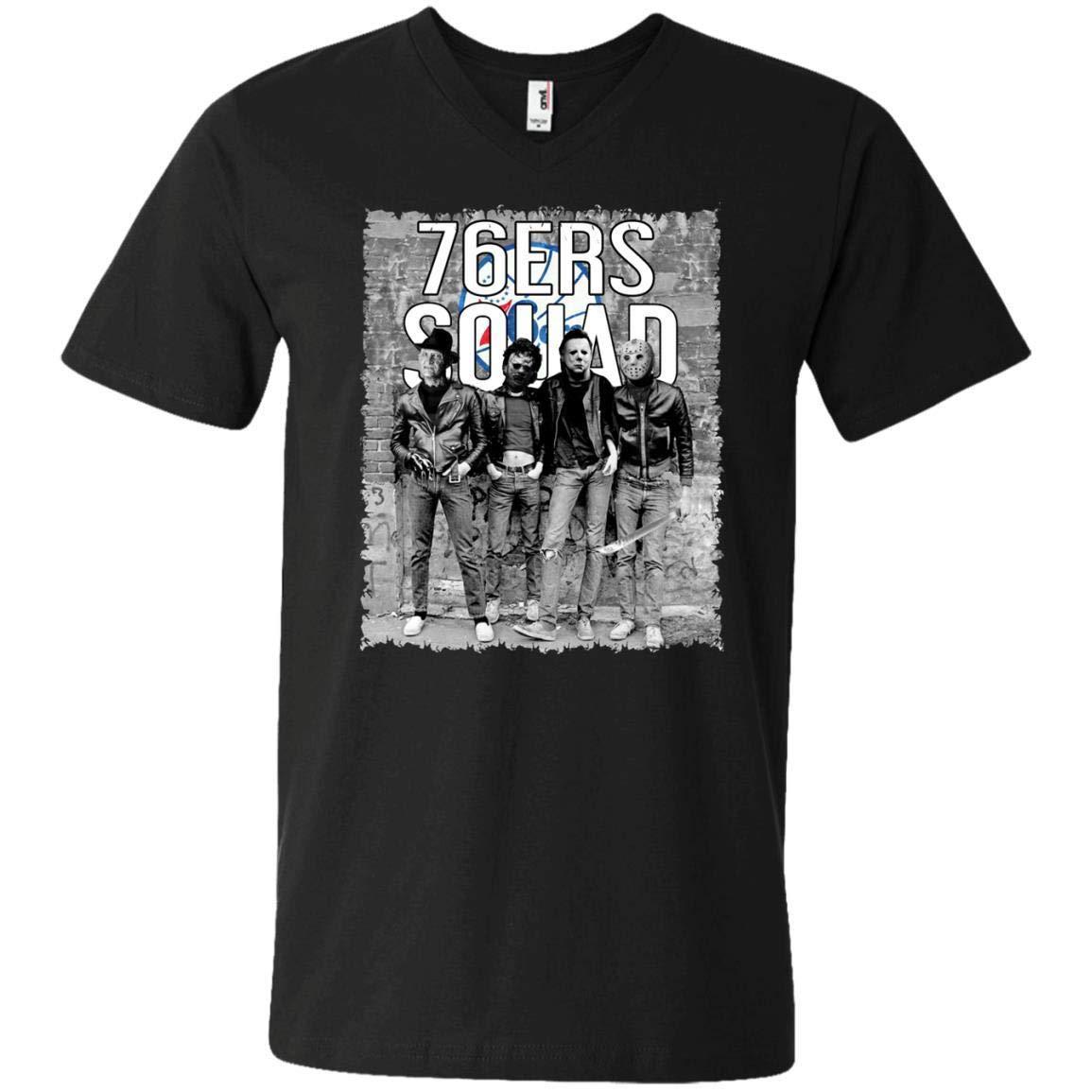 Busas Halloween Fdy Jason Michael Myers 76ers Fans Leatherface Squad T Shirt 2293