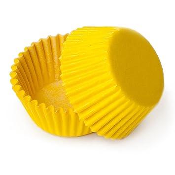 Vestido mi Cupcake estándar amarillo Cupcake Liners Bulk – 500 unidades – postre decoraciones de mesa