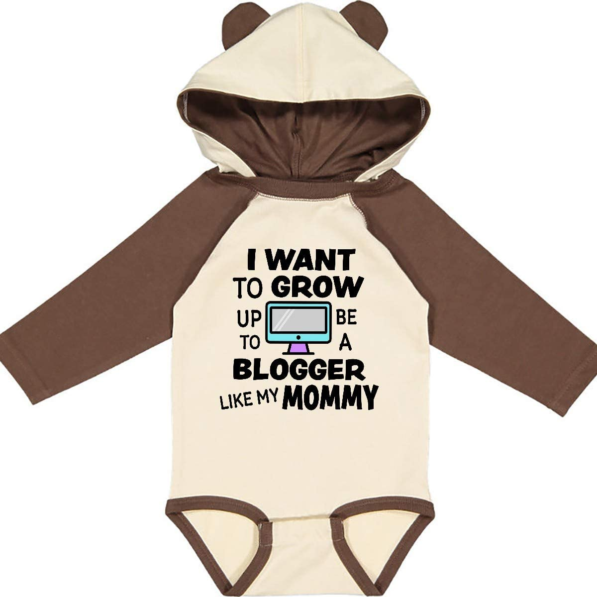 inktastic I Want to Grow Up to Be a Blogger Like My Mommy Long Sleeve Creeper