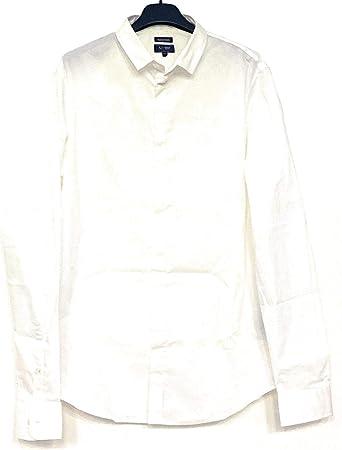 Armani Jeans, Camisa (Extra Fina) de Manga Larga, Blanca, 76 ...