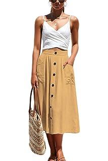 Vila Vinyala HW Midi Skirt Falda para Mujer: Amazon.es: Ropa y ...