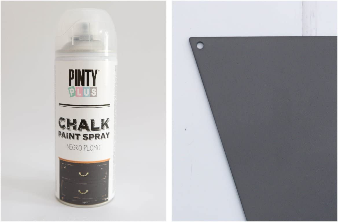 PINTYPLUS CHALK PAINT SPRAY 520cc (NEGRO PLOMO): Amazon.es: Hogar