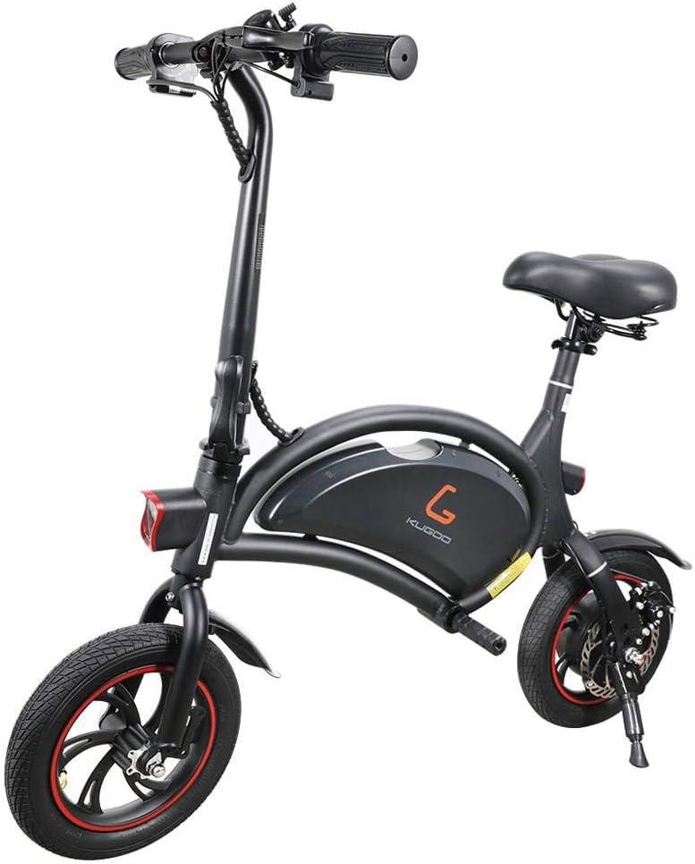 Makibes Kugoo B1 Bicicleta Eléctrica Plegable De hasta 25 Km/H con Motor De 250 W, Soporte De Aplicaciones, Rueda De 12 Pulgadas, Bicicleta Eléctrica para Adultos Y Viajeros - Negro