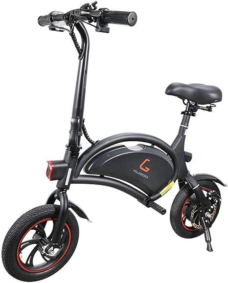 Makibes Kugoo B1 Bicicleta Eléctrica Plegable E-Bike De hasta 25 Km/H con Motor De 250 W, Soporte De Aplicaciones, Rueda De 12 Pulgadas, Bicicleta Eléctrica para Adultos Y Viajeros - Negro: Amazon.es:
