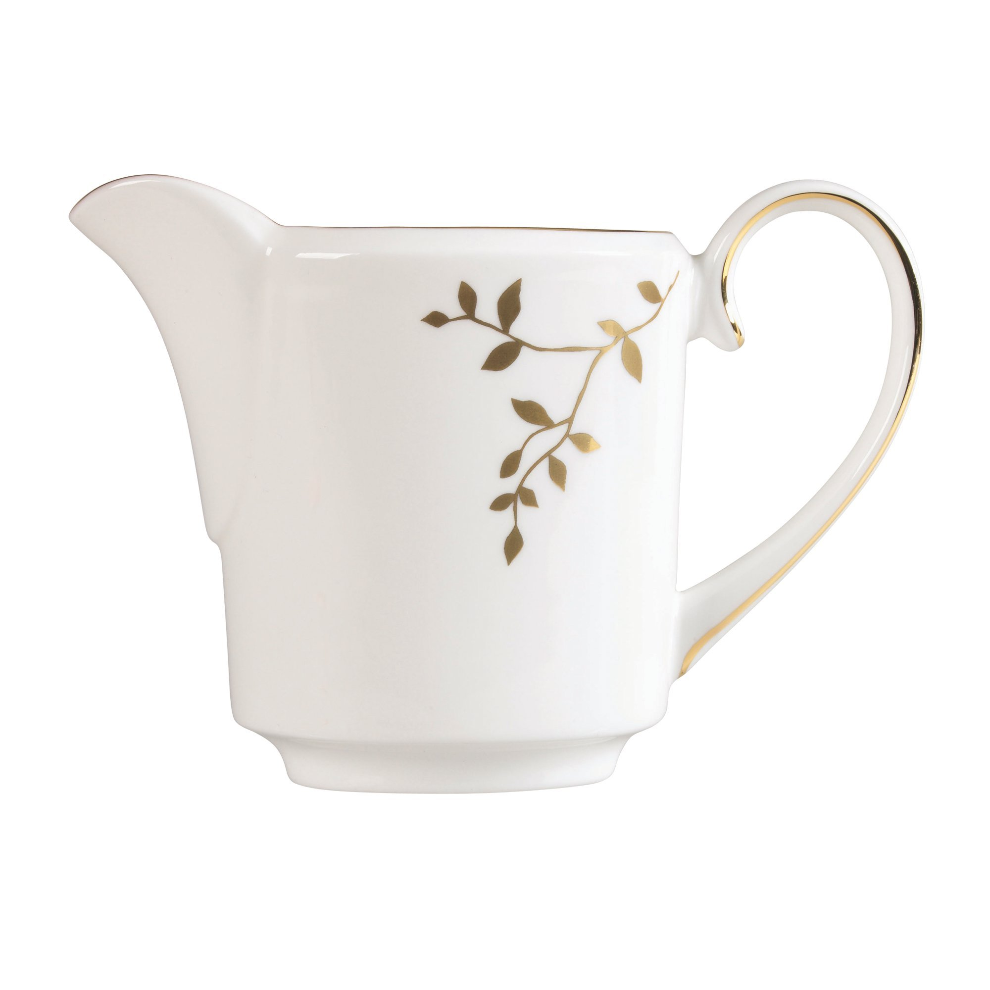 Wedgwood Gilded Leaf Creamer Imperial, White