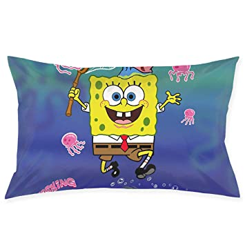 Excellent Amazon Com Pillow Cases Spongebob Hunting Jellyfish Throw Gmtry Best Dining Table And Chair Ideas Images Gmtryco