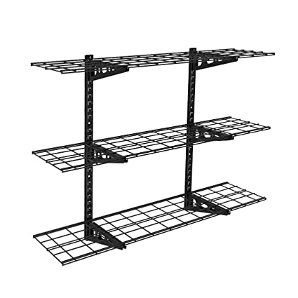 Superb FLEXIMOUNTS 3 Tier Storage Wall Shelves 1x4ft 12 Inch By 48