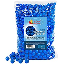 Gumballs in Bulk - Dark Blue Gumballs for Candy Buffet - Mini Gumballs 1/2 Inch, Bulk Candy 2 LB