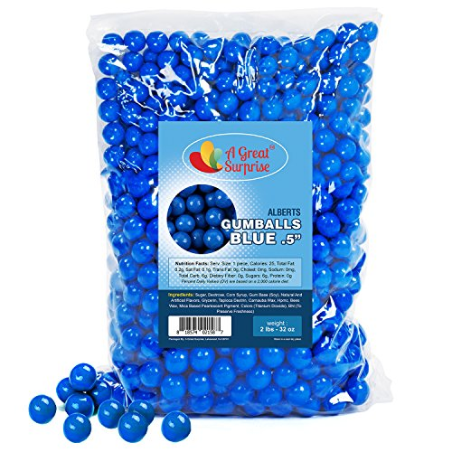 Gumballs in Bulk - Dark Blue Gumballs for Candy Buffet - Mini Gumballs 1/2 Inch, Bulk Candy 2 LB]()