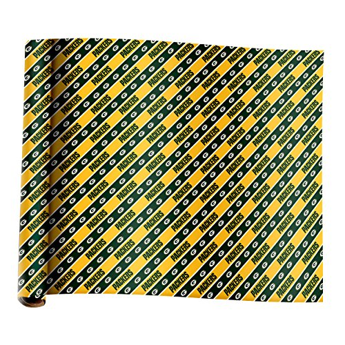 Green Bay Packers Team Plane Wrapping Paper - Nfl Wrapping Paper