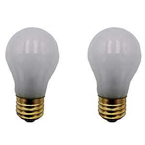 Supplying Demand 5304490731 Refrigerator Frosted Light Bulb Pack 40-Watt