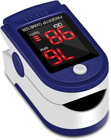 Oxímetro de Pulso Pulsómetro Dedo Digital Pulsioxímetro de Dedo Profesional con Pantalla LED, Medidor de Oxígeno en Sangre SpO2 y Monitor de Frecuencia Cardíaca para Uso Deportivo, Adultos y Niños: Amazon.es: Deportes