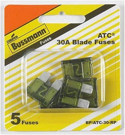 5 Pack 5 Per Card Bussmann BP//ATR-25-RP Atr-25 A Blade Fuse