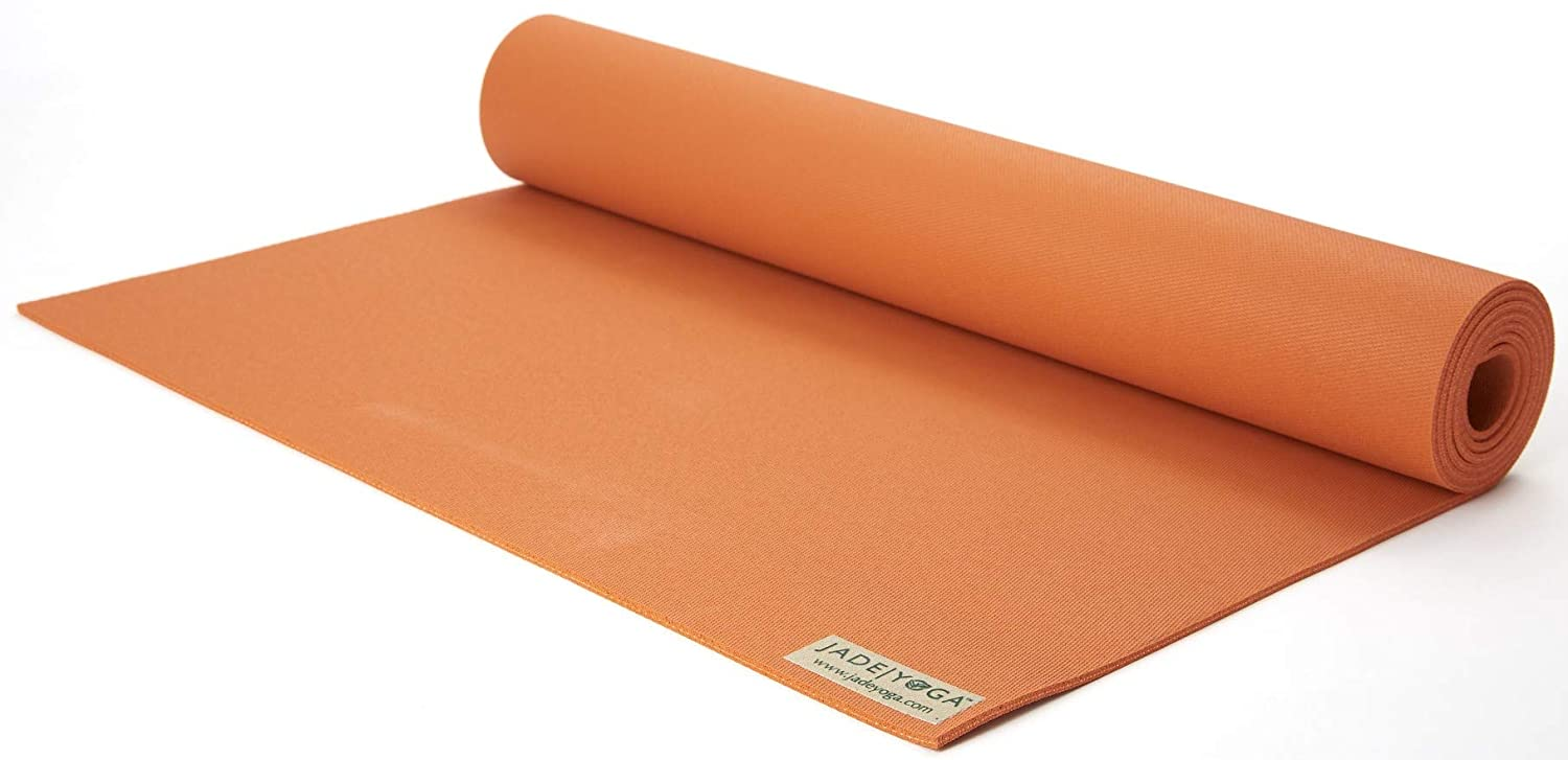 JadeYoga - Esterilla para yoga (5 mm x 173 cm), varios colores Tibetan Orange