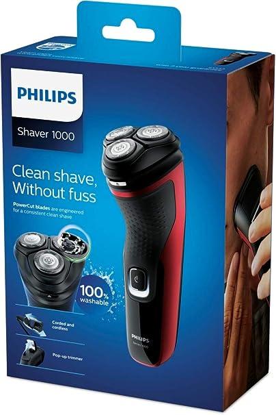 Philips Afeitadora eléctrica en seco, Series 1000 S1333/41: Amazon ...
