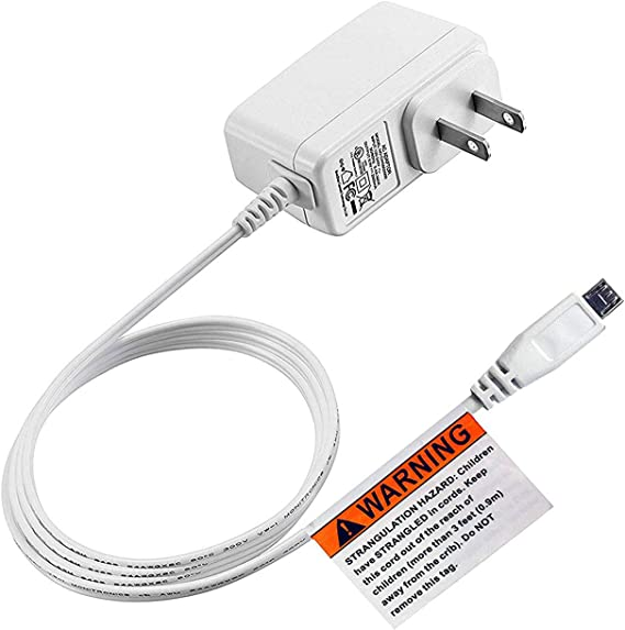 2m USB White Charger Power Cable Adaptor for Infant Optics DXR-5 Baby Monitor