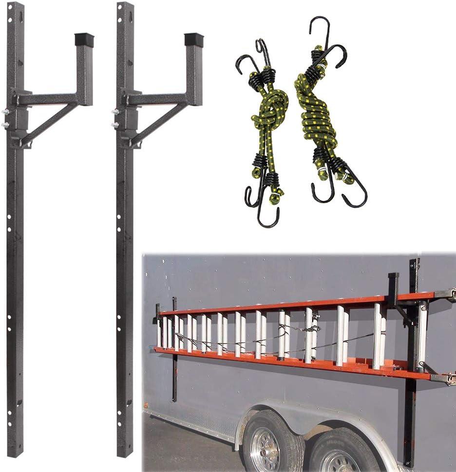 CNSY Adjustable Trailer Exterior Side Wall Ladder Rack Fit for Enclosed Trailer