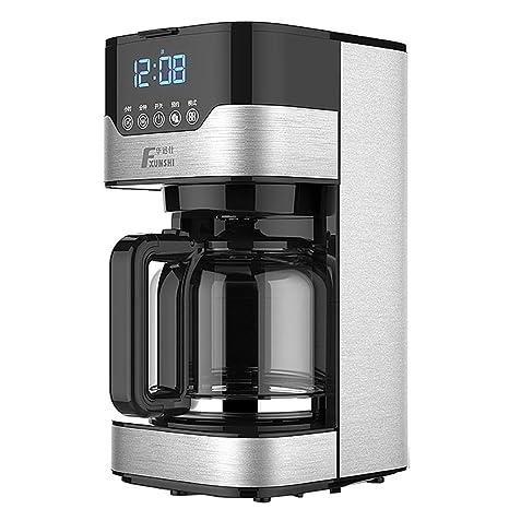DPPAN Maquina de Cafe Programable 12 Copas, Acero Inoxidable Cafetera Función de Reserva,Black