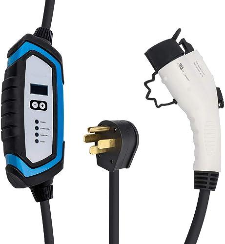 side facing bougerv level 2 portable ev charging cable