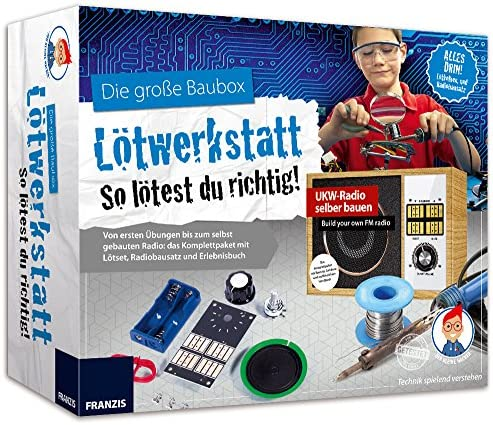 FRANZIS Der kleine Hacker: Die große Baubox Lötwerkstatt, Radio-Bausat