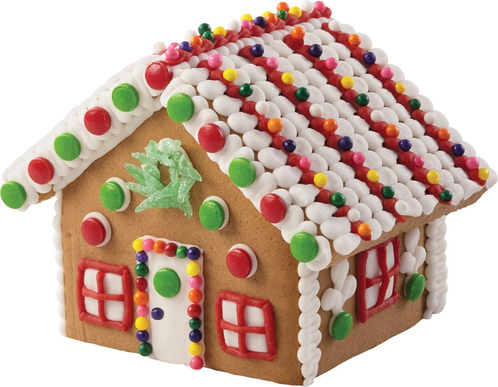 Amazon wilton mini village gingerbread house kit kitchen dining solutioingenieria Image collections