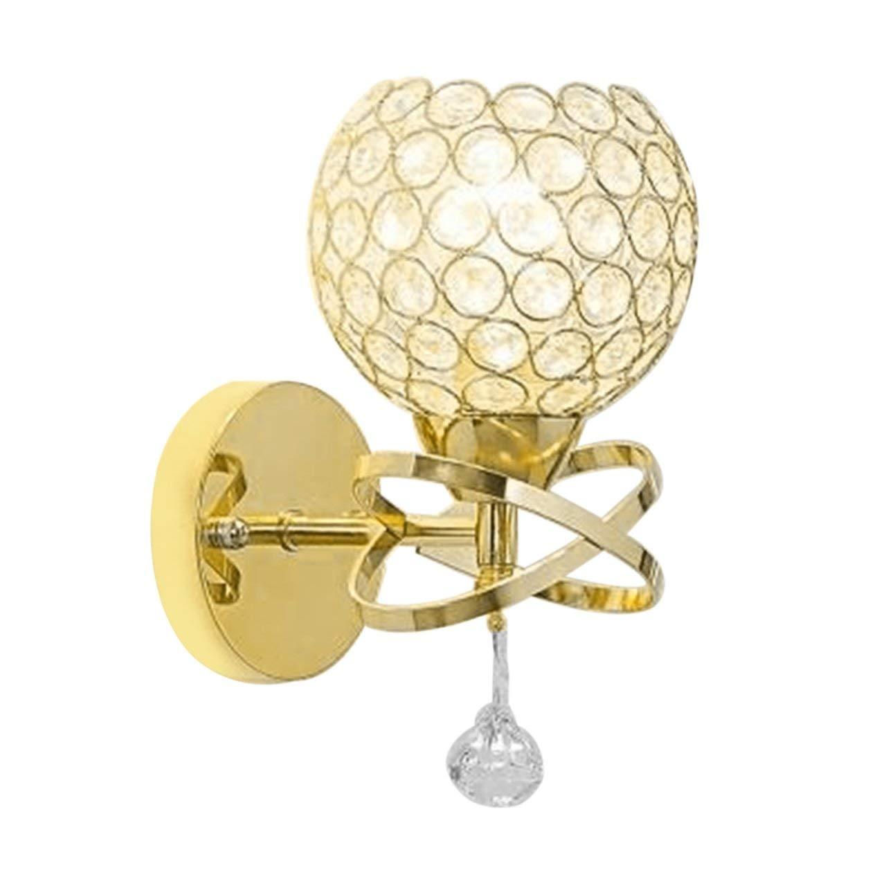 Jasnyfall LED-Kristallwandmontage Lampen-Schlafzimmer-Beleuchtung Home Decor Moderne Wandleuchte E27 golden