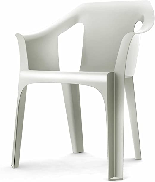 resol M126747 - Sillon Resina apilable Cool Blanco: Amazon.es: Jardín
