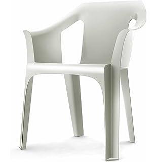 Lote de 2 sillón MAZ Resina Color Rojo. Silla con Brazos de ...