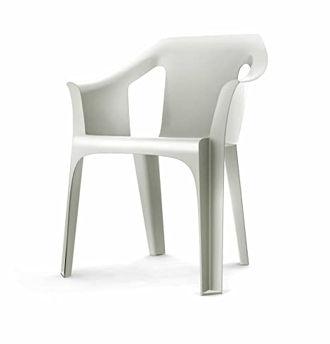 resol M126747 - Sillon Resina apilable Cool Blanco