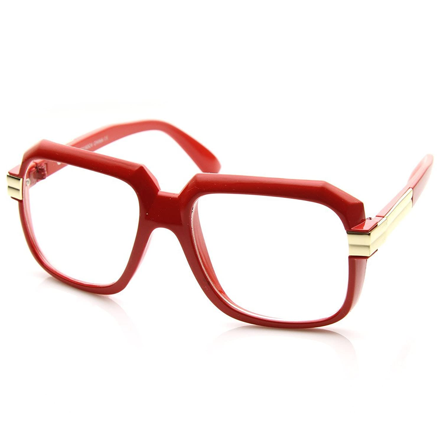 chic AStyles Old School Oversized Rectangular Squared Hip Hop Nerdy ...