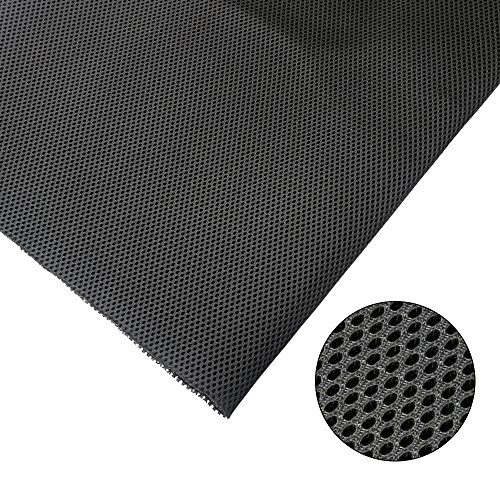 ZUINIUBI Speaker Cloth Stereo Grill Mesh Fabric Black