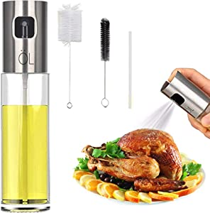 Oil Spritzer Mister for Air Fryer Olive Oil Sprayer Cooking Bottle for Vinegar Canola Vegetable Oil Portable Mini Kitchen Gadgets for BBQ/Pan/Salads/Baking