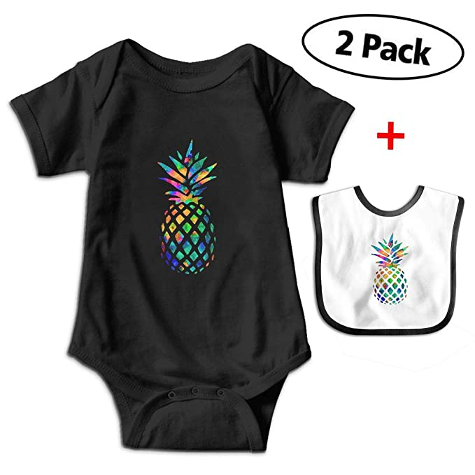 b81faadb0 Amazon.com  Colorful Pineapple Funny Infant Romper Jumpsuit Baby ...
