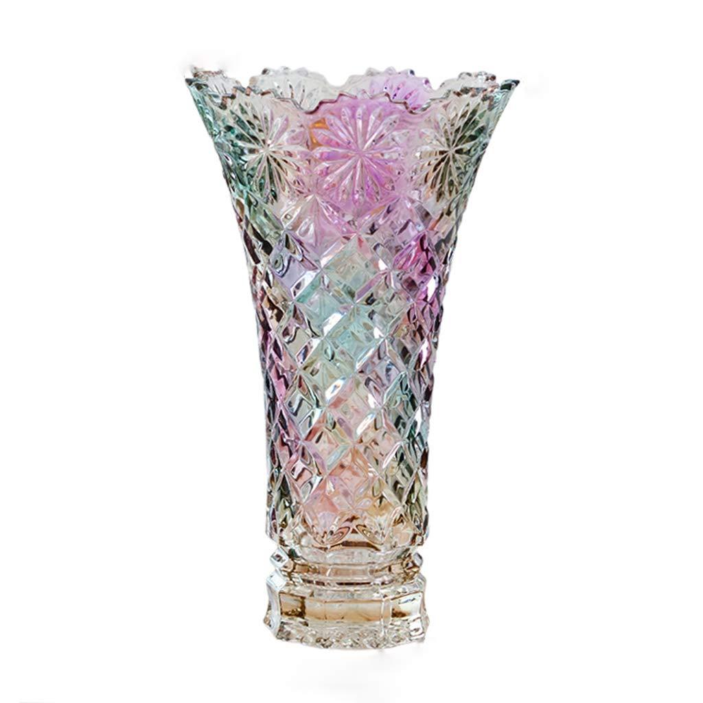 ヨーロッパの花瓶、家の現代のミニマリストの花瓶、家の装飾(6.88×3.54×11.6インチ) B07RMXZ3BY