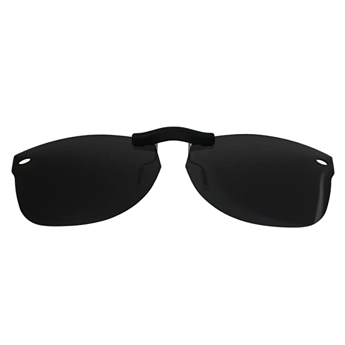 4f7958e9db149 Custom Polarized Clip On Sunglasses for Ray-Ban RB5184 (RX5184)  50-18-145(No Frame) Black - - Amazon.com