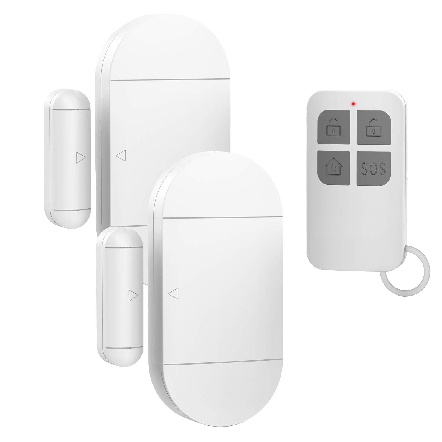 Door Window Pool Alarm,130dB Wireless Magnetic Sensor Anti-Theft Door Alarms for Kids Safety,Home Store Garage Apartment Business Security (2 Alarm Sensors + 1 Remote Control) by EverNary
