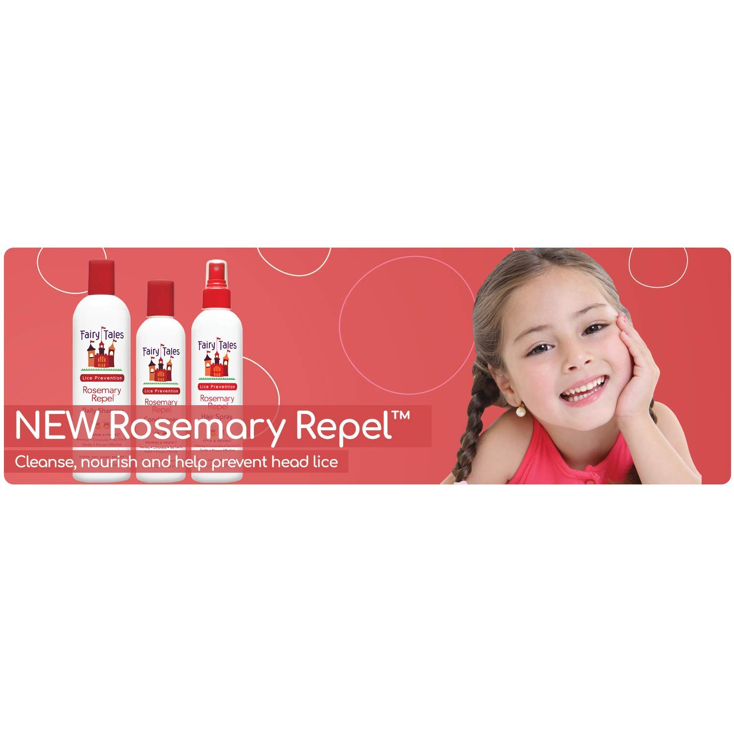 Fairy Tales Rosemary Repel Daily Kid Shampoo (32 Fl Oz) & Conditioner (32 Fl Oz) Duo for Lice Prevention, Combo Pack by Fairy Tales