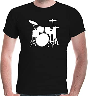 Drummer Drum Kit Adults Mens T Shirt 12 Colours  Size S 3XL