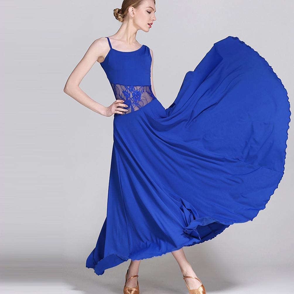 Hohl Schnüren Spleißen Ärmellos Modernes Tanzkleid Für Frauen Walzer Standard Tanz Kleider Große Schaukel B078MJWCM1 Bekleidung Vollständige Palette von Spezifikationen