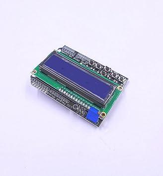 JZK® 16 X 2 Caracteres Escudo del teclado LCD Con retroiluminación azul Para Arduino UNO MEGA R3 Mega2560 Duemilanove Nano Robot: Amazon.es: Electrónica