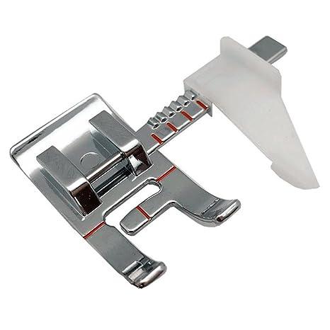 Prensatelas para máquina de coser con guía ajustable, se adapta a máquinas de coser domésticas