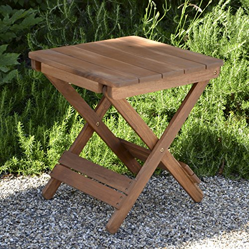 Plant Theatre Adirondack Folding Hardwood Table - Superb Quality (Folding Wooden Outdoor Table)