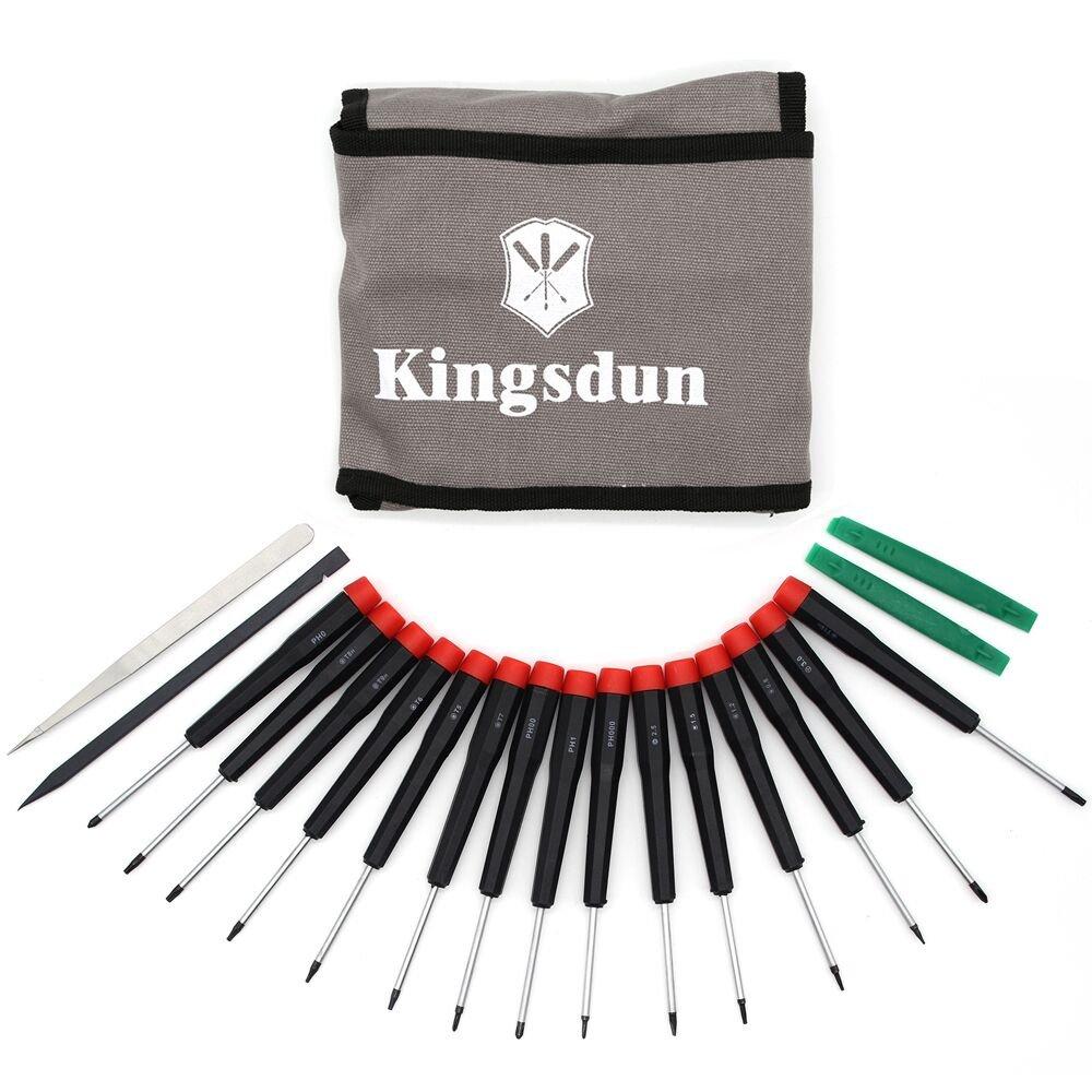 Kingsdun Set Premium 19pcs Best Mini Precision pentalobe Screwdrivers Set Repair Tool Kit for Repairing Computer,ipad,iPhone 6s/7,MacBook Pro,Watch,Samsug S7 and Other Smartphone Tablet