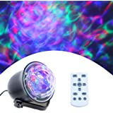 Water Wave Lights Projector - Outdoor Waterproof LED Ripple Garden Lights RGBW 15 Colors Water Effect with Remote for Christm