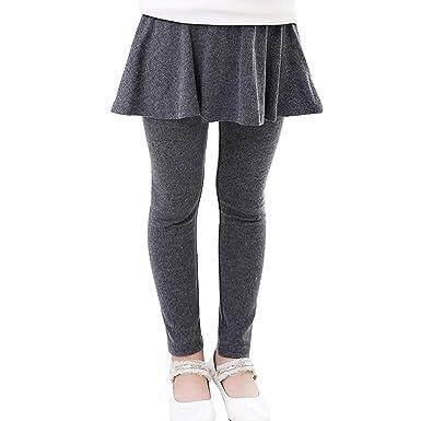Ymysfit Fille Legging Jupe Courte Couleur Unie Danse pour Automne Printemps 5e44e9501ba