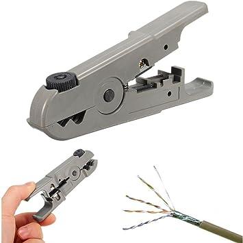 adaalen Universal Rotary coaxial Coaxial UTP/STP Cable cortador de alambre para desmontar herramienta pelacables