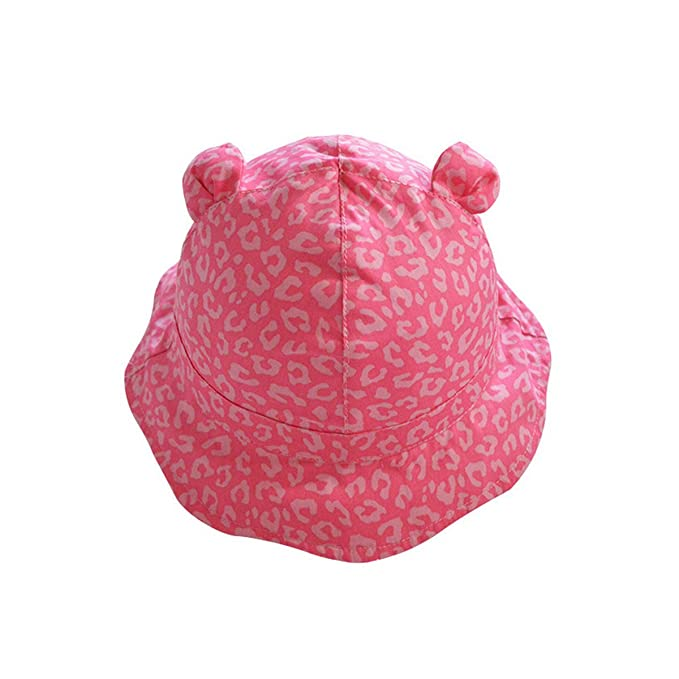 460f64d2f62fa Unisex Baby Sun Hat Pink Leopard Printing Bucket Hat Kids Sun Protection Hat  (18.1 inches