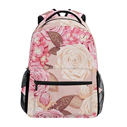b813d349dc2c Amazon.com: Rose Gold Necklace Trekking Backpack Fashion Backpack ...