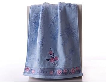 pllp Toalla de algodón de lujo de la caja de regalo bordada corte toalla pareja modelos algodón toalla de lavado toalla grande hogar,A,78x35cm: Amazon.es: ...
