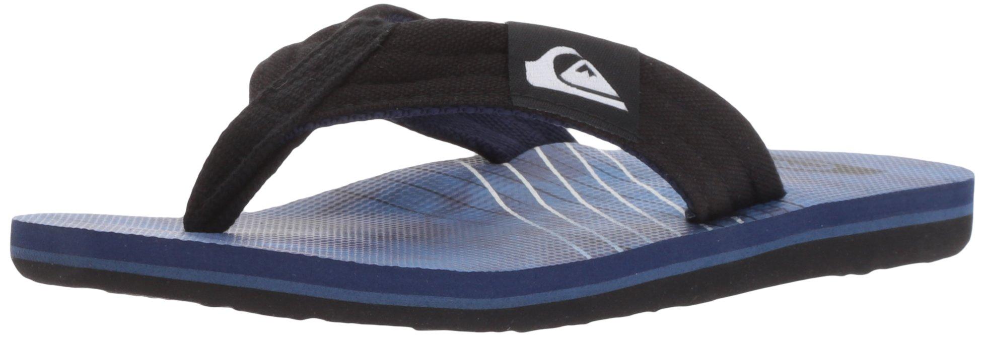 Quiksilver Boys' Molokai Layback Youth Sandal, Black/Blue/Blue, 6 M US Big Kid